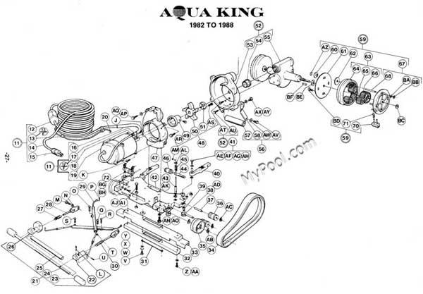 Aquavac Aqua King Motor Assembly Parts Diagram