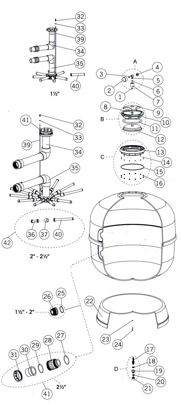 Astral Aster Filter Parts Diagram