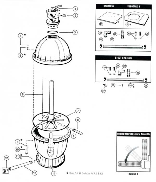 hayward s160t sand filter parts diagram