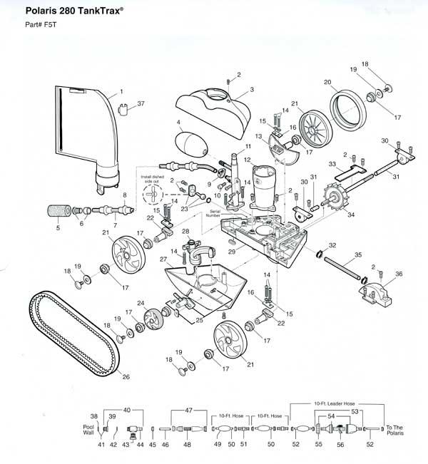 Polaris 280 Tank Trak Pool Cleaner Parts Diagram Manual Guide