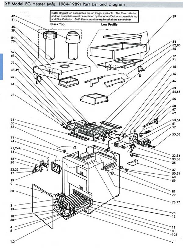 Jandy Teledyne Laarsa Xe2 Pool Heater Parts List