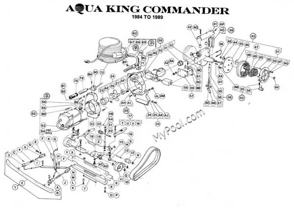 AquaVac Aqua King Commander Motor Parts Diagram