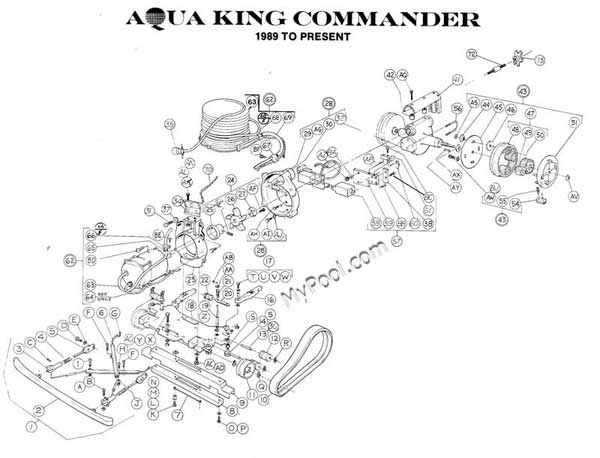 Aquavac Aqua King Commander Parts Diagram  After 1988