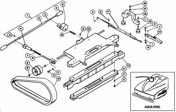 Aquavac Aqua King Base Parts Diagram
