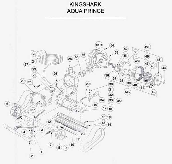 Aquavac King Shark  Aqua Prince Parts List