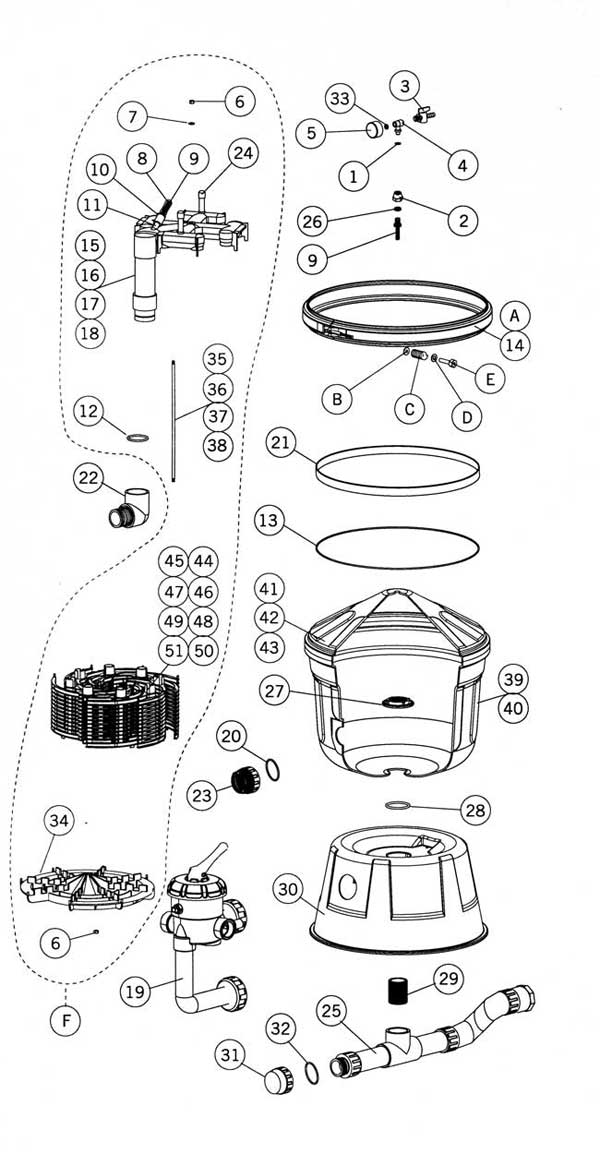 Astral Clarity  Filter Parts Diagram