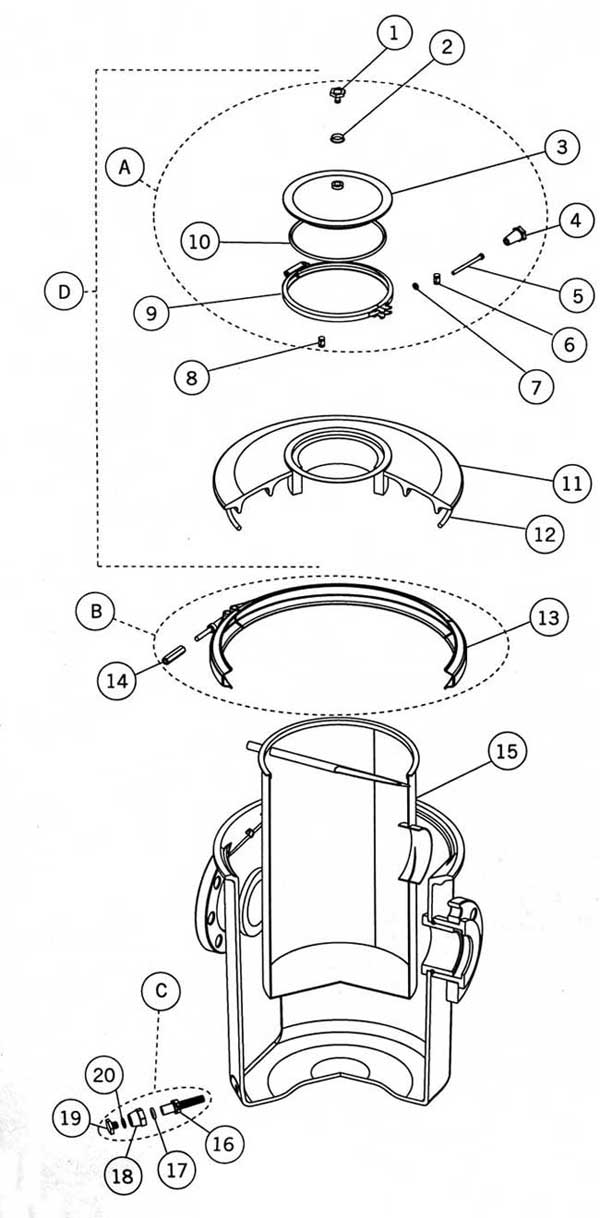 Astral Polyester Strainer Parts Diagram