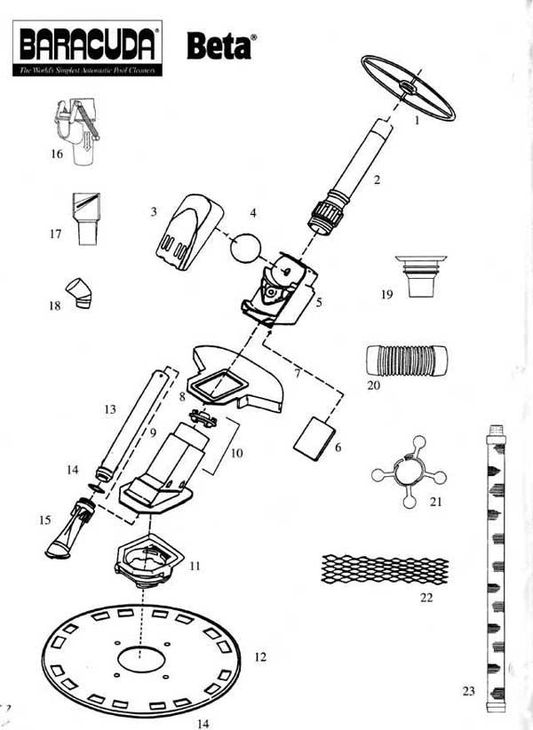 Baracuda Beta, Replacement Parts Diagram