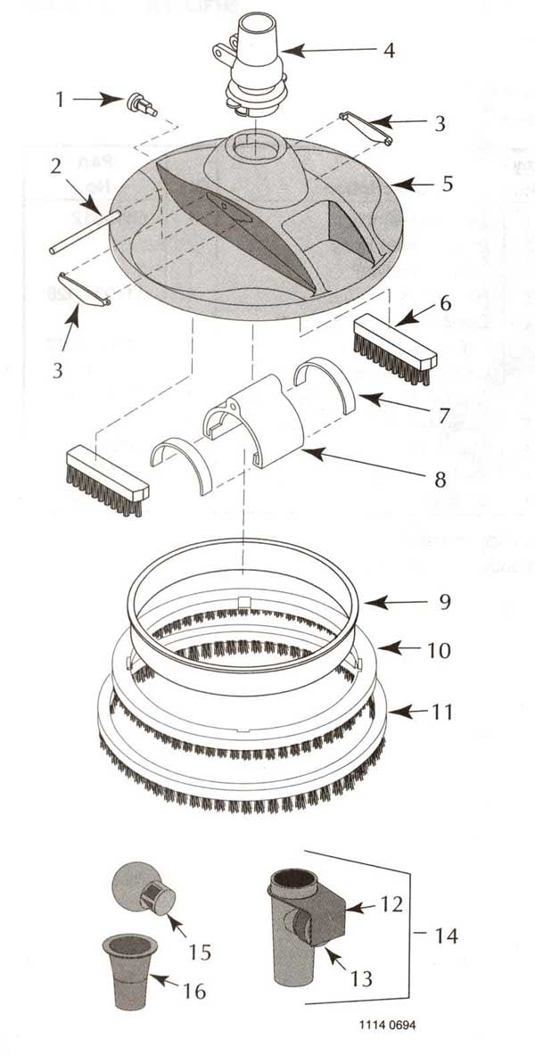 Sta Rite Great White Pool Cleaner Parts Diagram
