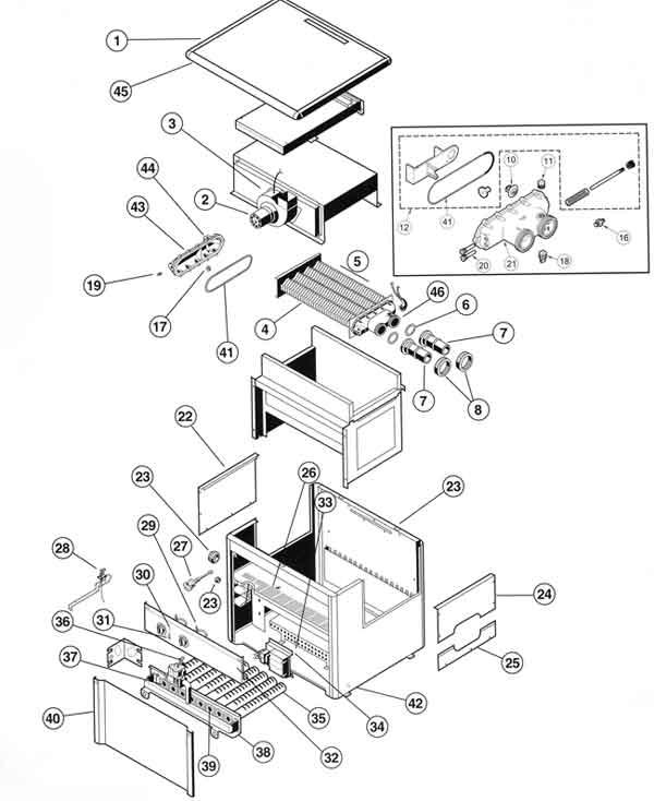 Hayward H Series Induced Draft Heater Parts Diagram