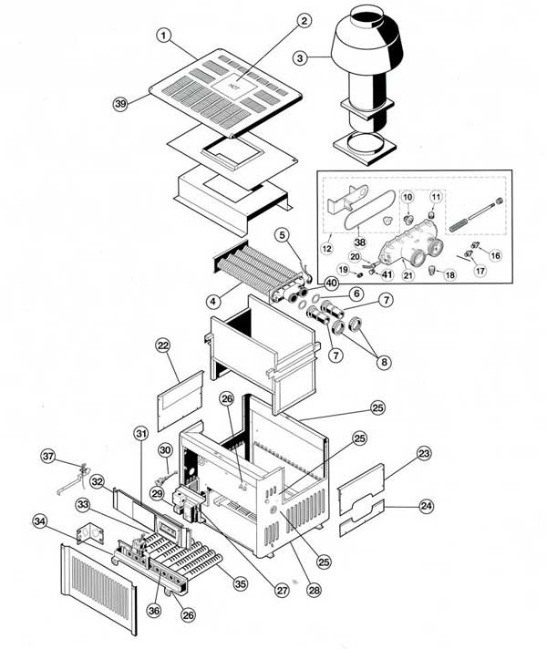 Hayward H-Series ED2 Parts Diagram on