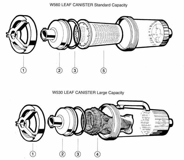 Hayward Leaf Cannister Parts Diagrams