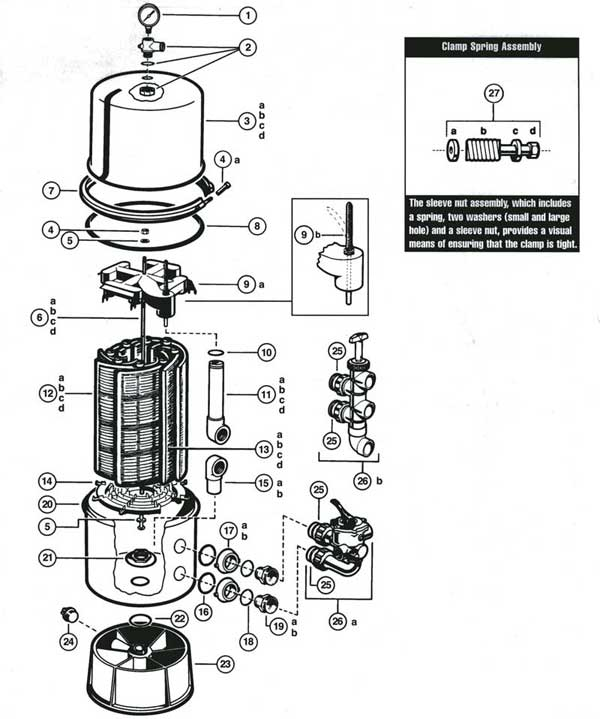 Hayward Stainless Stell Micro Clear Parts Diagram