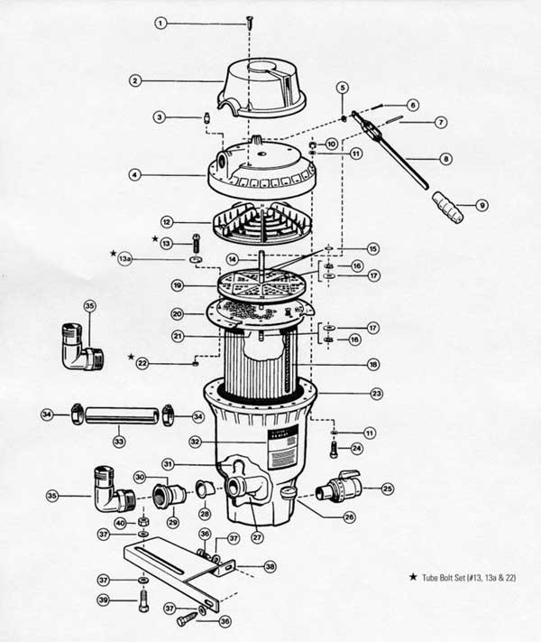Hayward Perlex EC60 Parts Diagram
