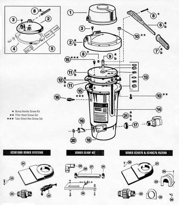 Hayward Perlex EC40 Parts Diagram