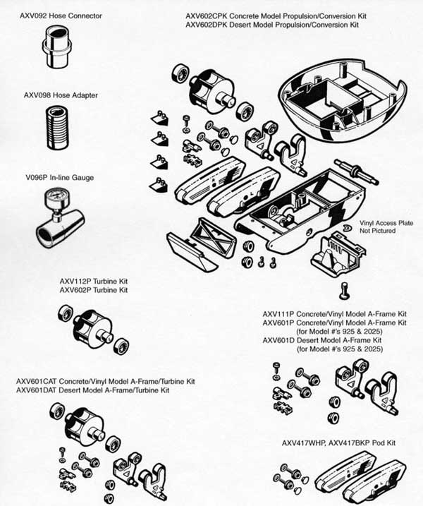 Hayward Pool Cleaner Kits Parts Diagram