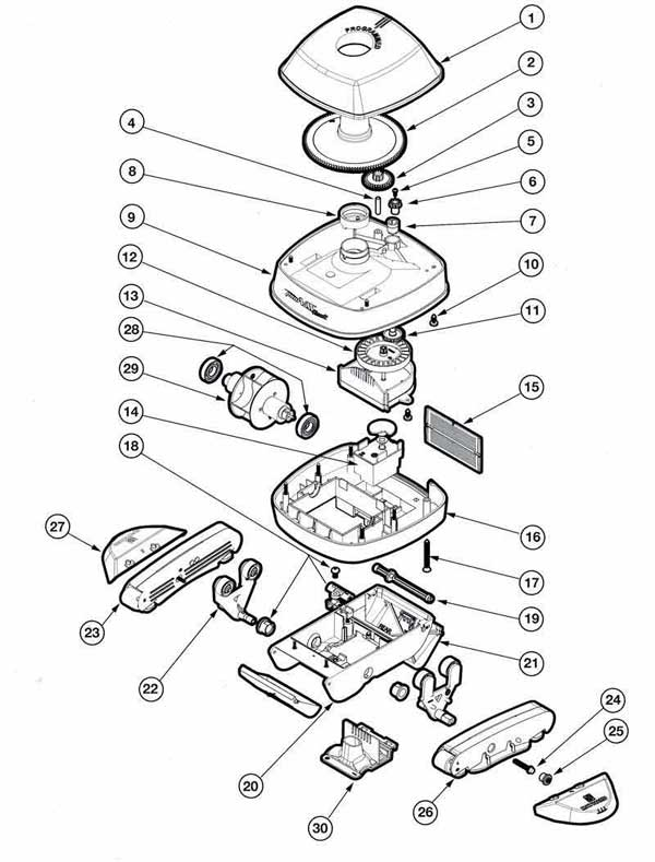 Hayward Classic Pool Vac Parts Diagram