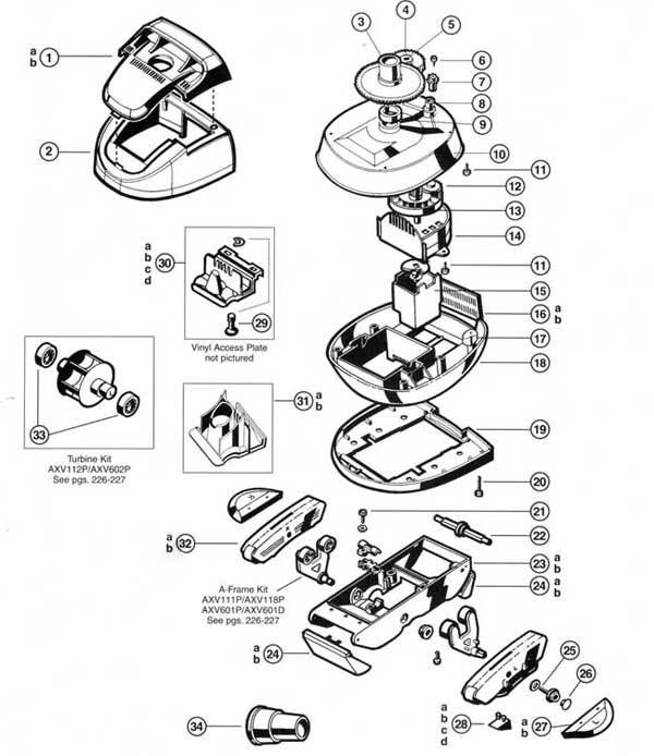 Hayward Pool Vac Ultra Parts Diagram
