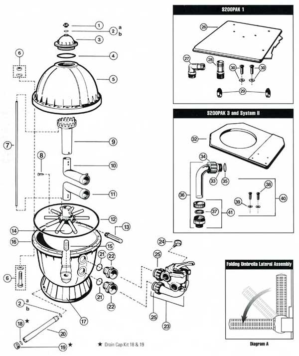 Mypool Hayward S200 Sand Filter Parts Diagram