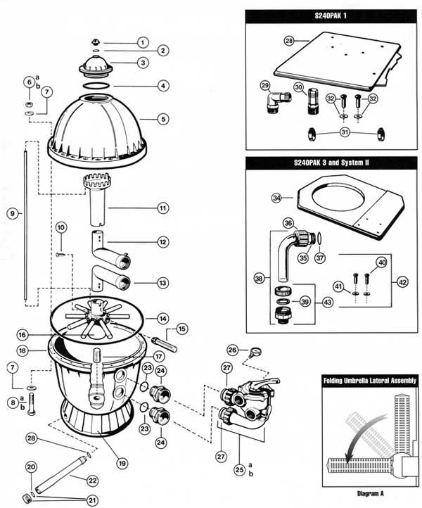 mypool hayward s240 sand filter parts list