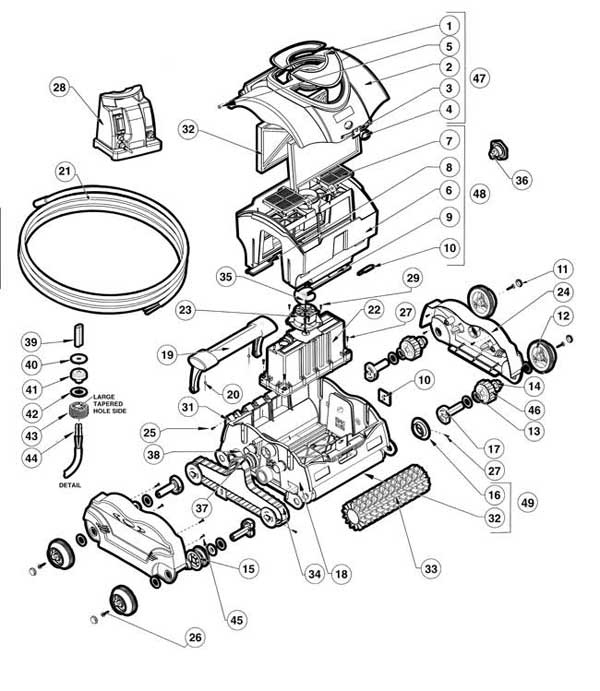 hayward sharkvac electric pool cleaner parts diagram