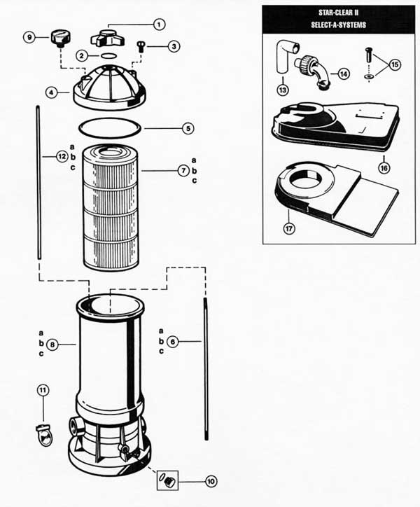 Hayward Star Clear II Filter Parts Diagram