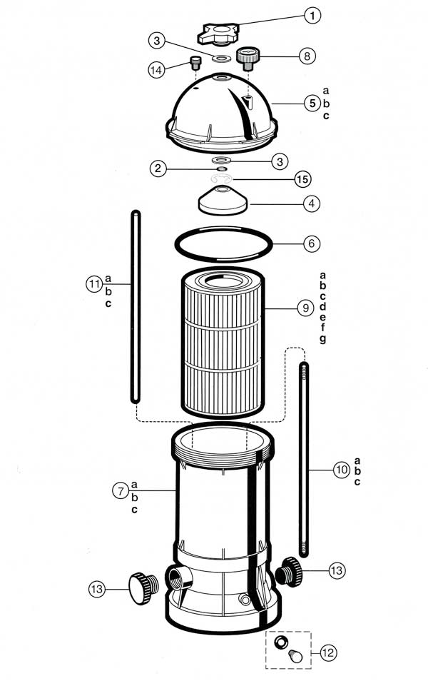 Hayward Star Clear Plus Filter Parts Diagram