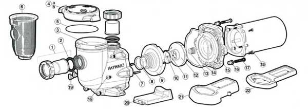 Hayward 3200 Series Pump Parts Diagrams Full Rated