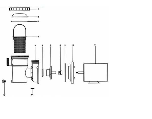 Jacuzzi B Series Pumps Parts Diagram