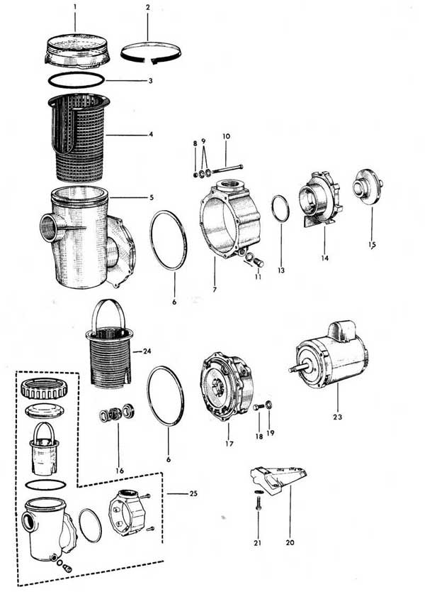 jacuzzi up, uph pool pump parts diagram