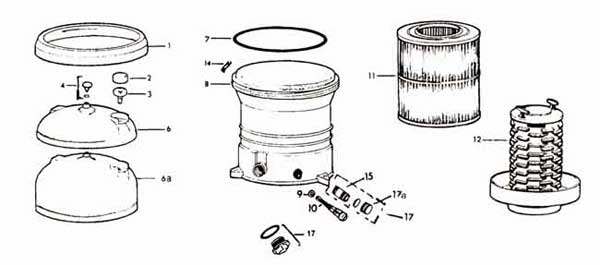 Jacuzzi CFR Cartridge Filter Parts Diagram