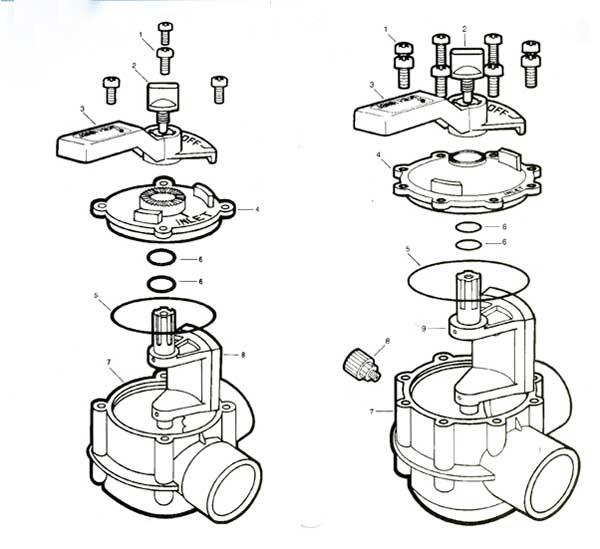 Jandy Two Way Valve Parts Diagram
