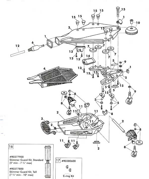 Jandy Ray Vac Vinyl Pool Cleaner Parts Diagram