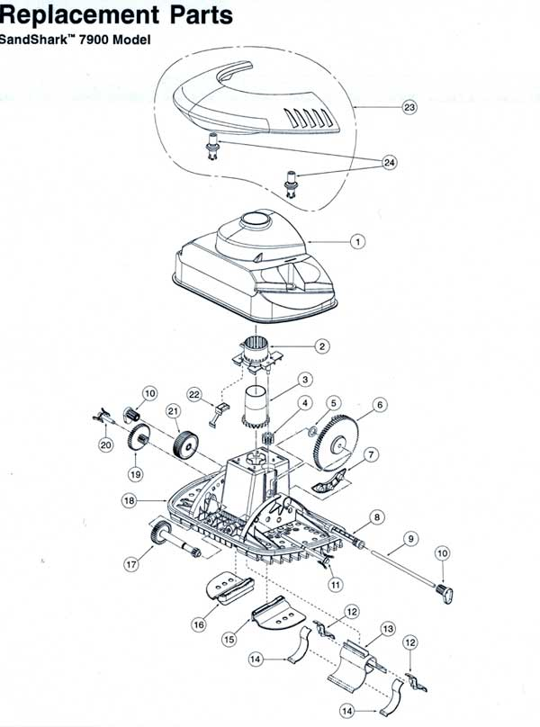 Kreepy Krauly SandShark Model 7900 Parts Diagram