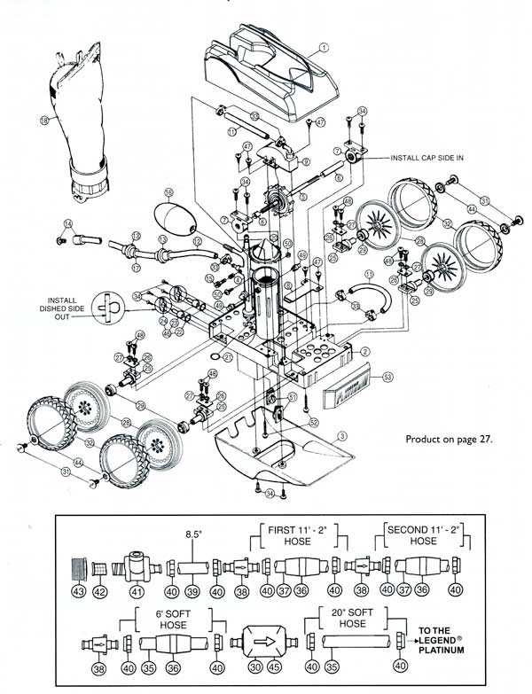Letro Legend Platinum In Ground Pool Cleaner Parts Diagram