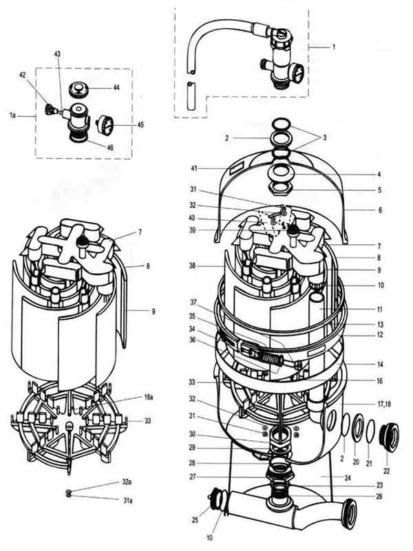 sand filters diagram