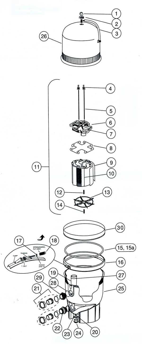 Pentair fns plus pool filter parts diagram hover to zoom pooptronica
