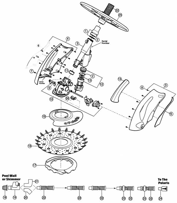Polaris 140 Pool Cleaner Parts List and Diagram