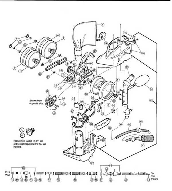 Polaris 360 Pool Cleaner Parts List and Diagram