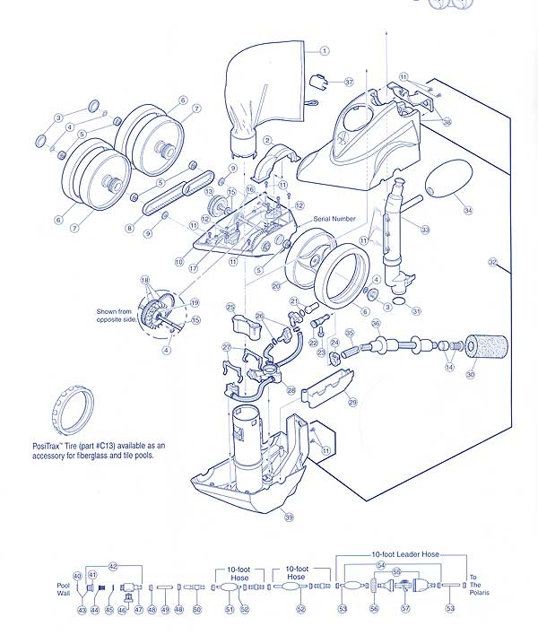 Polaris 380 Pool Cleaner Parts List and Diagram