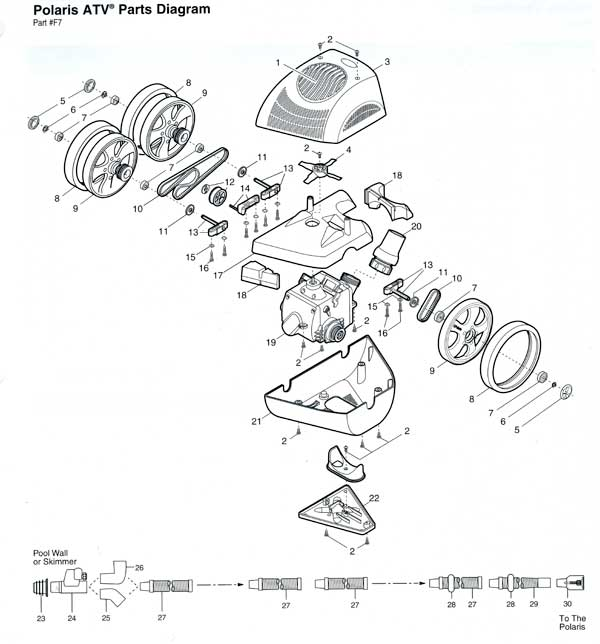 Polaris ATV Pool Cleaner Parts List and Diagram