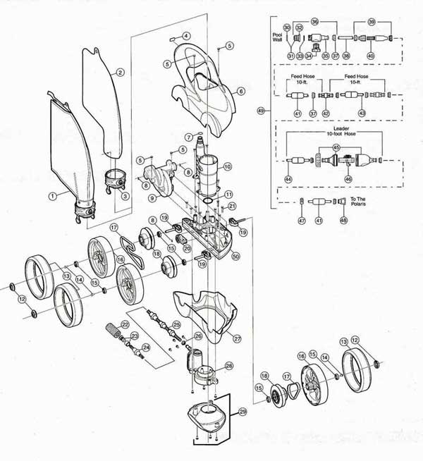 Polaris 480 Pro Pool Cleaner Parts List and Diagram