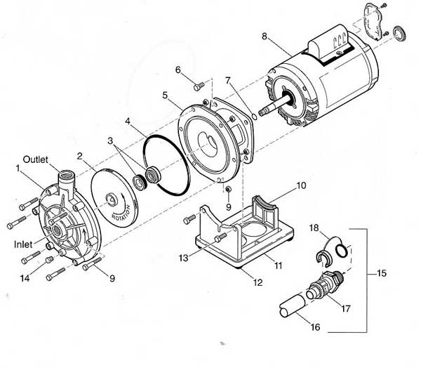 Polaris PB4-60 Pool Cleaner Booster Pump Parts List and Diagram