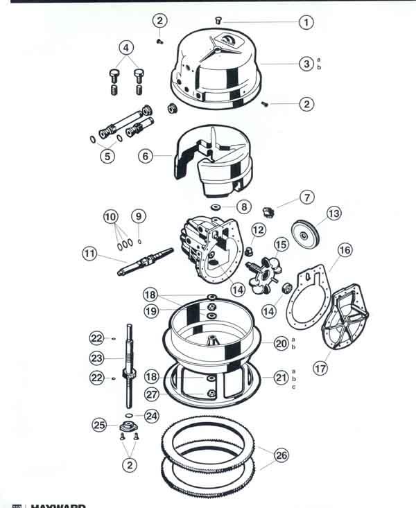 Arneson Pool Sweep Pool Sweep Head Parts Diagram