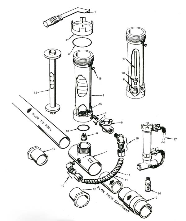 Rainbow Chlorinator 320 Parts Diagram