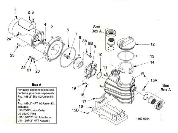 sta rite dyna glas sta rite dyna glas, pump parts diagram, parts list emerson 1081 pool motor wiring diagram at alyssarenee.co