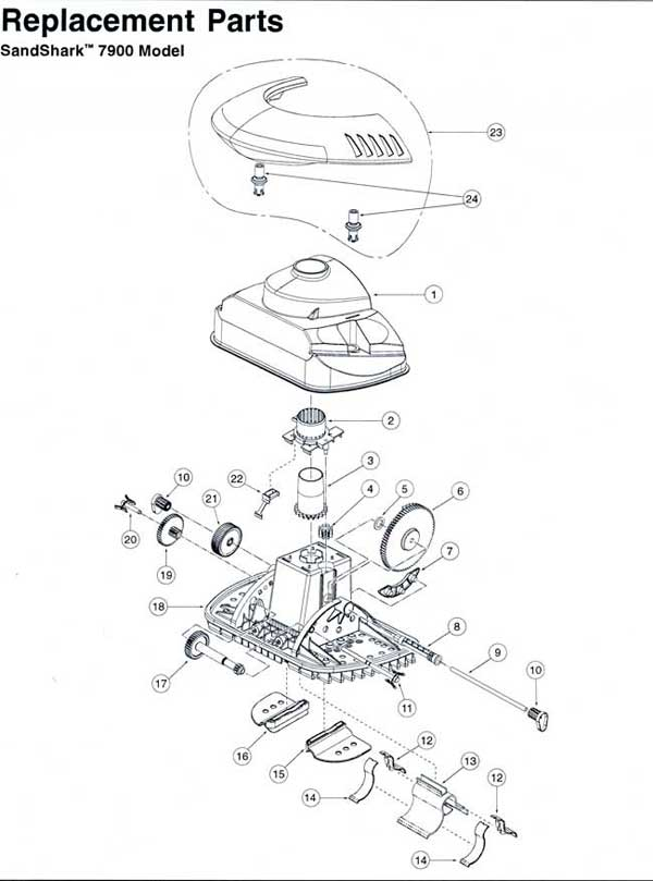 Sta Rite Sand Shark Pool Cleaner Parts Diagram