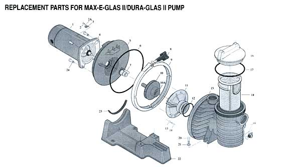 Sta-Rite Max-E-Pro Pool Pump Parts Diagram