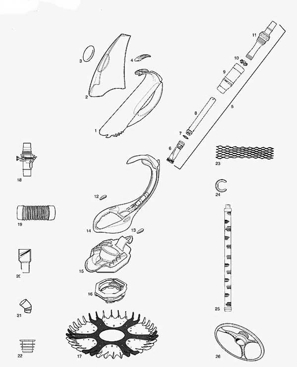 Zodiac g4 assembly diagram complete wiring diagrams swimming pool cleaner parts baracuda g4 rh mypool com g4 pool cleaner zodiac g4 parts diagram ccuart Images
