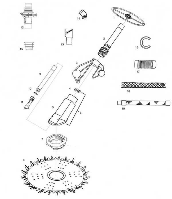 Baracuda Pacer Parts Diagram